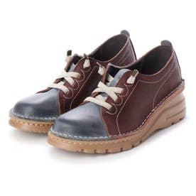 【A-OK】カラーコンビの軽量ウォーキング靴(フォレスト)
