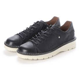 【A-OK】 スニーカー感覚で履けるウォーキング靴(黒)