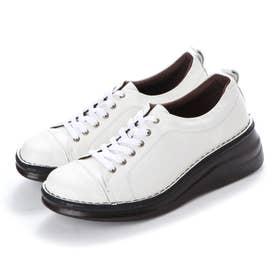 【A-OK】 スニーカー感覚のシューレースコンフォート靴 《MS8480》(ホワイト)