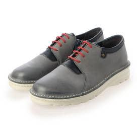 【A-OK】レースの色コンビが鮮やかなダメージレザーのスポーツ靴《FE7101》(フォレスト)