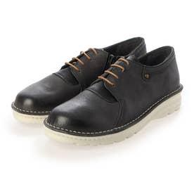 【A-OK】レースの色コンビが鮮やかなダメージレザーのスポーツ靴《FE7101》(黒)