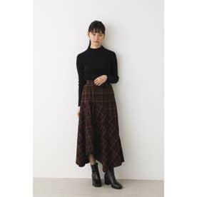 ランダムヘムロングスカート 柄BRN5