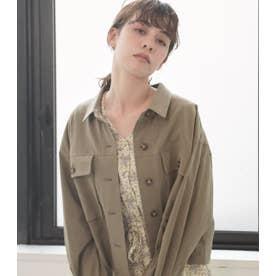クロップドシャツジャケット KHA