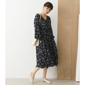 OLIVIA FLOWERレースアップワンピース NVY