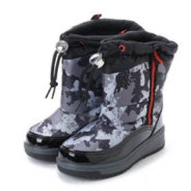 ドローコード付き子供用 防寒ブーツ・aw_17990(BLACK/ARMY)