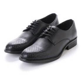紳士 型押しトゥビジネスシューズ〈クラシコイタリア〉・aw_16160 (BLACK)