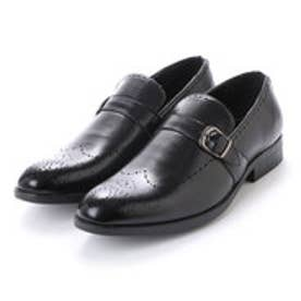 紳士 モンクストラップ ビジネスシューズ〈クラシコイタリア〉・aw_16143 (BLACK)