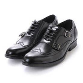 紳士ビジネスシューズ・ダブルモンクストラップ ウィングチップ〈クラシコイタリア〉・aw_16146 (BLACK)