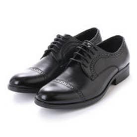 紳士 ストレートチップ パーフォレーション ビジネスシューズ〈クラシコイタリア〉・aw_16144 (BLACK)