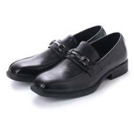 紳士ビジネスシューズ・スワールモカ ビット 型押しパンチング模様 ブラック・aw_16110 (BLACK)