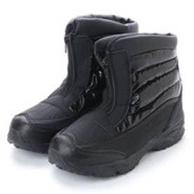 防寒ブーツ メンズ センターファスナー スノーブーツ・aw_17392 (BLACK)
