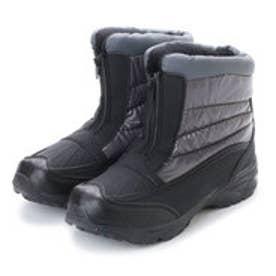 防寒ブーツ メンズ センターファスナー スノーブーツ・aw_17392 (Charcoal Gray)