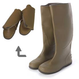 Folding Rain Boot レインブーツパッカブル携帯用巾着袋付・aw_19044 (KHAKI)