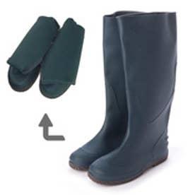 Folding Rain Boot レインブーツパッカブル携帯用巾着袋付・aw_19044 (NAVY)
