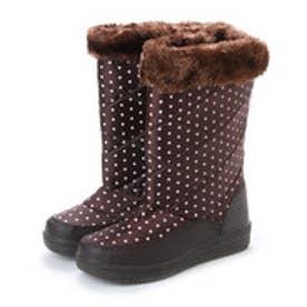 防寒ブーツ ボア付き保温効果の高いニット素材使用・aw_17688(ダークブラウン) (D.DROWN)