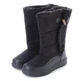 防寒ブーツ ムートン調素材・フェイクファー付き 保温効果の高い素材使用・aw_17689(ブラック) (BLACK)