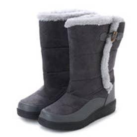 防寒ブーツ ムートン調素材・フェイクファー付き 保温効果の高い素材使用・aw_17689(グレー) (GRAY)