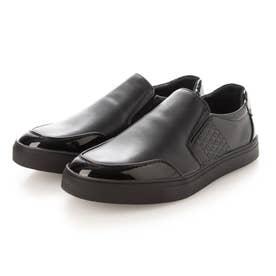 スリッポン デッキシューズ aw_21109 (BLACK) (ブラック)