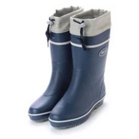 ゴムカラーブーツ ドローコード付き 軽作業 ガーデニング 長靴 af_17601 (NAVY)