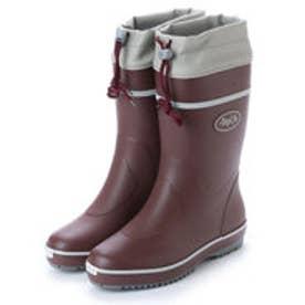 ゴムカラーブーツ ドローコード付き 軽作業 ガーデニング 長靴 af_17601 (WINE)