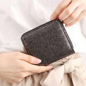 【Afd】MIRROR BALL ミニラウンド型財布 (ブラック)