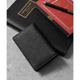 本革サフィアーノレザー名刺入れ カードケース (ブラック)