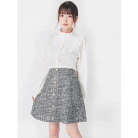 ツイードスカート(ブラック)
