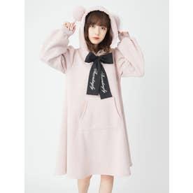 くまちゃんパーカーワンピース (ピンク)