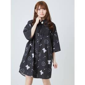 くまちゃんプリントBIGシャツ (ブラック)