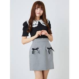 リボンフラップ台形スカート (A)
