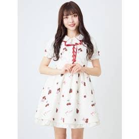 CherryBerryジャンパースカート (アイボリー)