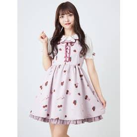 CherryBerryジャンパースカート (ピンク)
