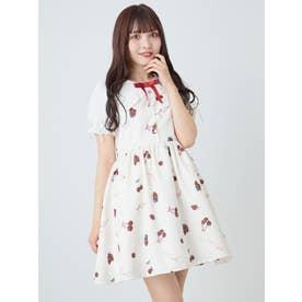 CherryBerryセーラー衿ワンピース (アイボリー)