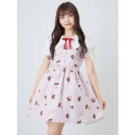 CherryBerryセーラー衿ワンピース (ピンク)