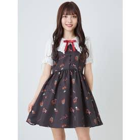 CherryBerryセーラー衿ワンピース (ブラック)
