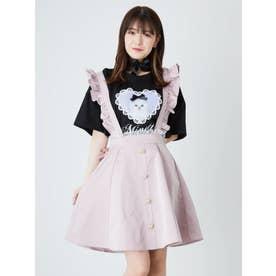 ハートボタンサス付きスカート (ピンク)