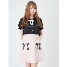 ハートポケットスカート (ピンク)