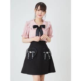 ハートポケットスカート (ブラック)