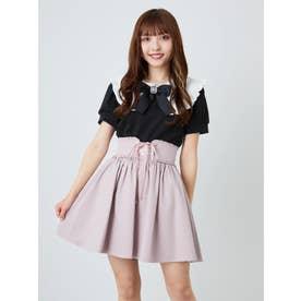 コルセットギャザースカート (ピンク)