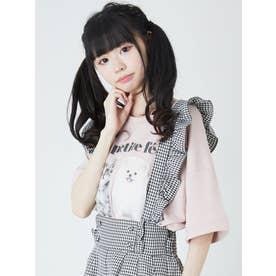 動物プリントゆるTE (ピンク)