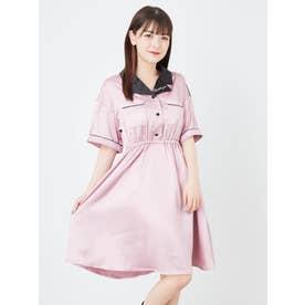 ワンピース(布帛) (ピンク)