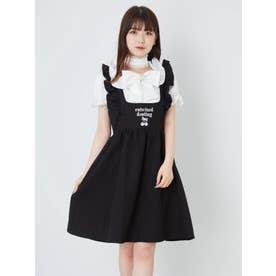 チェリーモチーフジャンパースカート (ブラック)