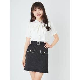パールバックルベルトJQ台形スカート (ブラック)