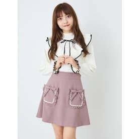 パールトリムポケットスカート (モカ)