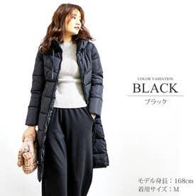中綿ロングコート (ブラック)