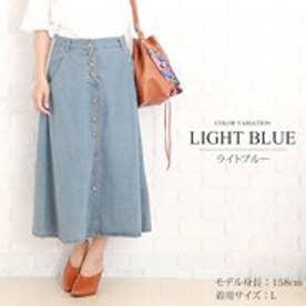 デニムロングスカート韓国ファッションレディースゆったり上品シック動きやすい【vl-5238】【S/S】 (ライトブルー)