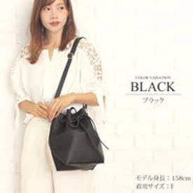 2way巾着ショルダーバッグ韓国ファッションレディース大容量持ちやすい肩掛けシンプル【vl-5215】 (ブラック)