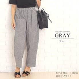 サマーハーレムパンツ韓国ファッションレディース夏用涼しい通気性ゆったり【vl-5255】【S/S】 (グレー)