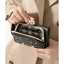 ファンタジア 外口金二つ折り財布 ブラック