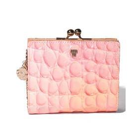 ラグーン 口金二つ折り財布 ピンク2